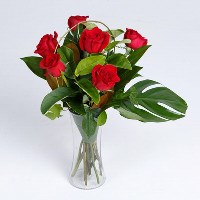 The half dozen rose bouquet