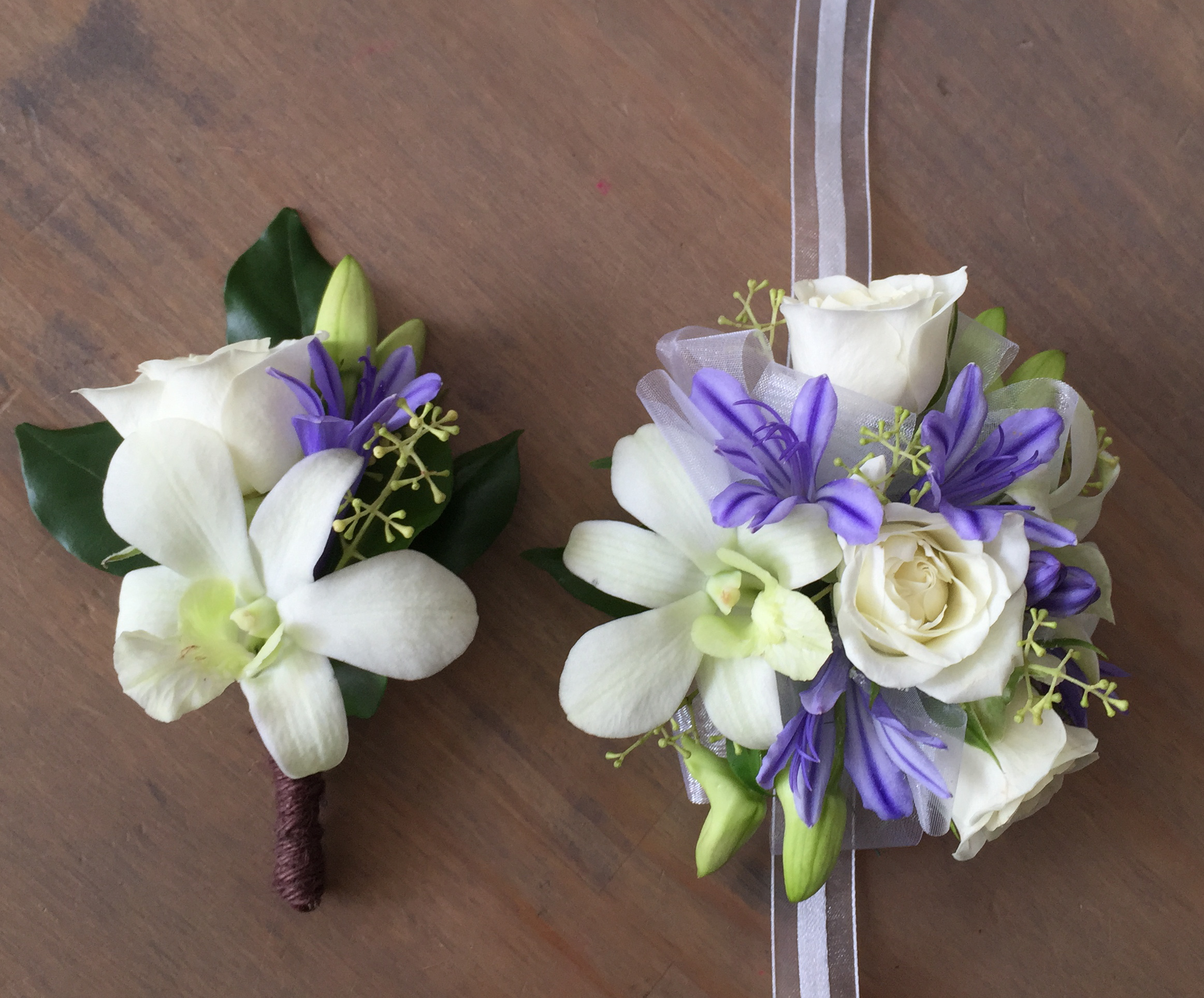 The Springtime, Formal corsage and buttonhole